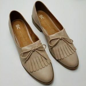 BC FOOTWEAR blush vegan leather kilty loafers